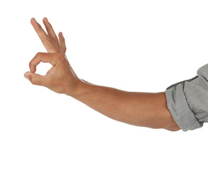 Arm showing an okay sign