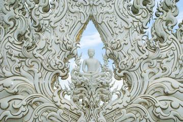 White buddha statue