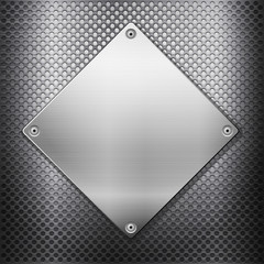 metal grid and square plate