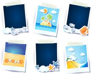 Holidays on the beach! Photo frames