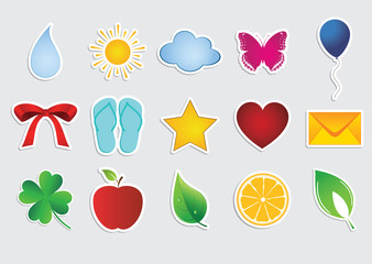 collection of vector stickers