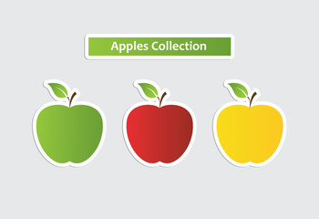 apple sticker collection