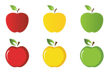 vector apples collection