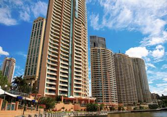 Appartments Along Brisbane River, Queensland