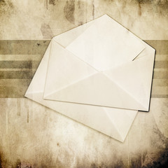 envelope with blank over grunge background