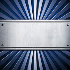 metal plate with stripe pattern