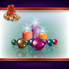 Christmas bells and candles