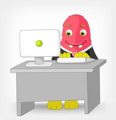 Funny Monster. Clerk.