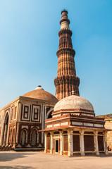 The minaret of Qutub Minar in Delhi, India