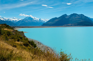 Wall Murals New Zealand Lake Pukaki and Mount Cook, New Zealand