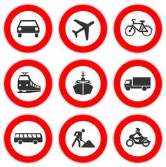 Warnschilder Verkehr