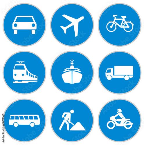 u0026quot;Blaue Verkehrsschilderu0026quot; Stockfotos und lizenzfreie ...