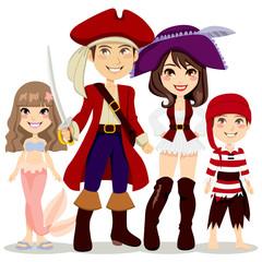 Foto op Plexiglas Piraten Pirate Family Costume Party