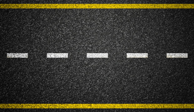 Asphalt highway with road markings background
