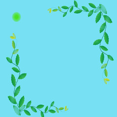 Flower of frame on color background