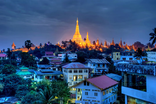 Yangon at night