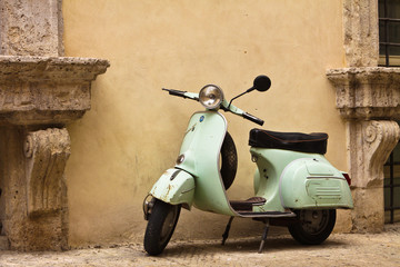 Foto op Canvas Scooter Vespa