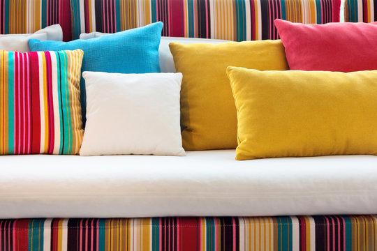 close up of Decorative pillow natural Fabric