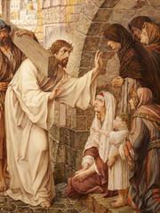 Obraz Jezus i płaczące kobiety, Droga Krzyżowa - fototapety do salonu