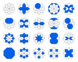 Achteck mit verschiedenen Formen
