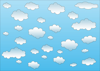 Keuken foto achterwand Hemel cielo nuvole