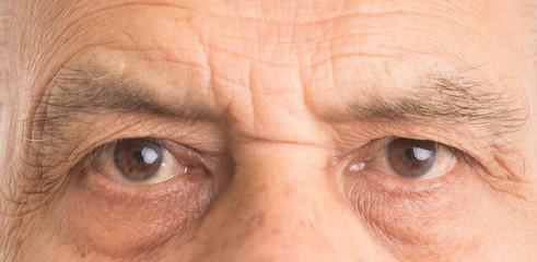 Close up of eyes of a senior man