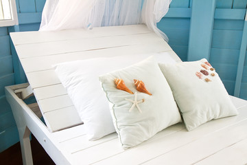 Shells on the pillow.
