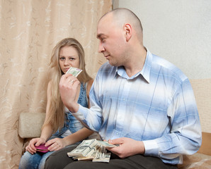 Family quarrel  over money