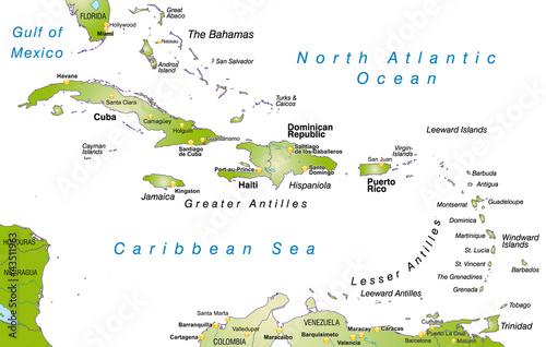 Karibik Karte.Landkarte Der Karibik Stockfotos Und Lizenzfreie Vektoren Auf