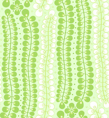 seamless pattern with Long green leaves on a green background