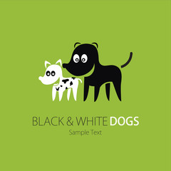 Company (Business) Logo Design, Vector, Black and White Dog