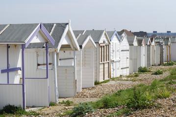 Beach huts at Shoreham. Sussex. England