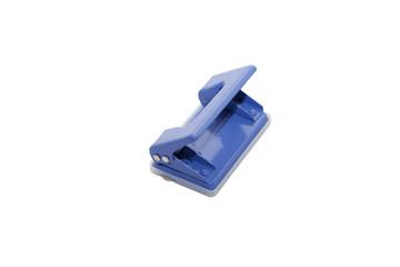 blue office steel puncher