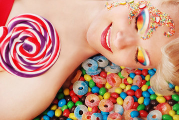 Bright candy makeup