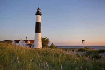 Fototapete - Big Sable Point Lighthouse.