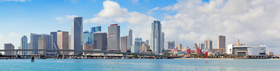 Fototapete - Miami city skyline