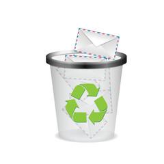 envelopes in the trash