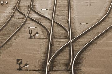 Türaufkleber Eisenbahnschienen Railroad tracks
