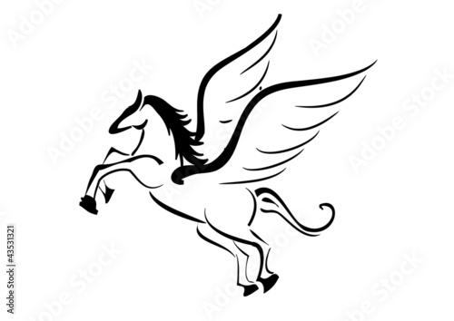 Cavallo Alato Tattoo Immagini E Vettoriali Royalty Free