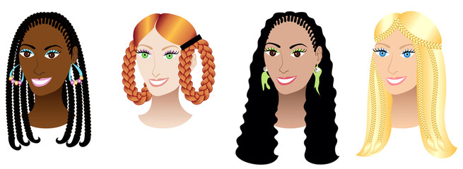Women with Braids and Plaits