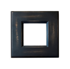 Black Vintage picture frame on white background