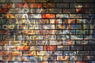 Graffiti wall, grunge background