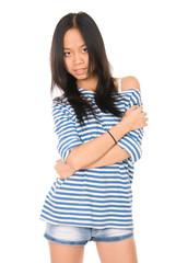 Portrait of beautiful young asian woman