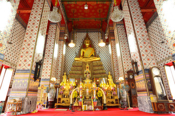 The beautiful Buddha in ancient temple over 200 years
