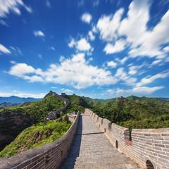 Wall Mural - Great Wall of China at Sunny Day