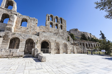 Fototapete - Odeon of Herodes Atticus Athens,Greece