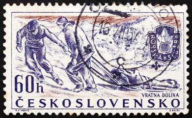 Postage stamp Czechoslovakia 1957 Rescue Team