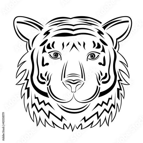 tiger outlines