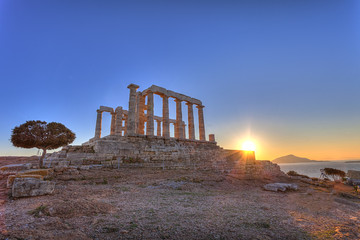 Wall Mural - Poseidon Temple at Cape Sounion near Athens, Greece