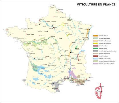 Weinbaugebiete in Frankreich